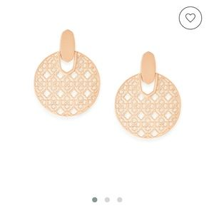 Didi Rose Gold Statement Earrings In Rose Gold Fil